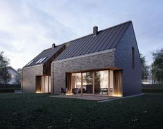 Barn style house plans nz with small attic house design attic house pole barns l. Barn style house plans nz with small attic house design attic house pole barns loft pole barn house Small House Architecture, Scandinavian Architecture, Brick Architecture, Scandinavian Home, Modern Brick House, Brick House Designs, Modern House Exteriors, Small House Interior Design, Modern House Design