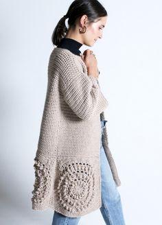 Kit crochet lana fina chaqueta Crunch Cardigan