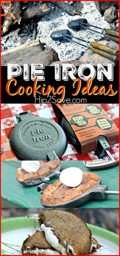 Pie Iron Cooking Ideas (Great for Camping). If you're planning on going camping this year and enjoying the great outdoors with your family and kids, then this is a great thing to bring with you! Love it!   This will make your camping trip so much more enjoyable.