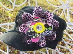 Cute Hat  Military Style Hat with Flower by TheQueensDaughters, $20.00