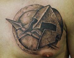 Spartan Shield Tattoo Spartan chest tattoo