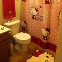 My hello kitty bathroom (wow it looks identical to mine! :) )
