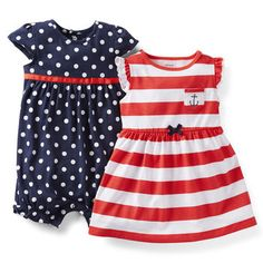 Carter's Baby Girls' 2 Piece Dress and Romper Set (Baby) Cute Outfits For Kids, Toddler Outfits, Carters Baby Girl, Baby Girls, Romper Dress, Dress Set, Baby Girl Dresses, Infant Dresses, Cute Baby Clothes