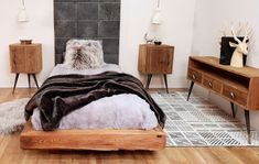 Bed, Furniture, Home Decor, Old Wood, Mattress, Home Decoration, Bedroom, Decoration Home, Stream Bed
