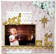 Kaisercraft 'Christmas Wishes' Collection Scrapbook Page Layouts, Scrapbook Albums, Scrapbooking, Christmas 2016, Christmas Wishes, Xmas, I Believe In Angels, Mini Albums, Things To Come
