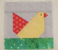 Paper Pieced Chicken Quilt Block! by PatchworkDuck, via Flickr