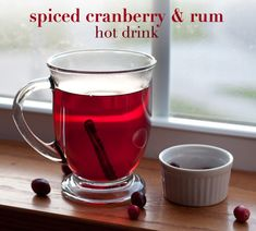 spiced cranberry and rum hot drink