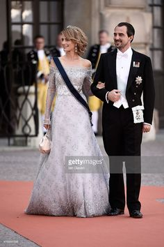 Prince Nikolaos of Greece (R) and Princess Tatiana of Greece attend the royal wedding of Prince Carl Philip of Sweden and Sofia Hellqvist at The Royal Palace on June 13, 2015 in Stockholm, Sweden. (Photo by Ian Gavan/Getty Images)