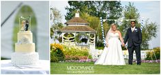 I just love how the bride matched up her cake topper to her wedding ceremony aisle decor!  It turned out to be such a lovely Northern Michigan day on Mackinac Island for a wedding at Mission Point Resort!  -image by McCoy Made, 2014 #NorthernMichiganWedding #MissionPointResort #MackinacIslandWedding #YellowWeddingCake #GardenWedding #McCoyMadePhotography