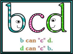 Letter Reversal Poster - b and d - Kelly Dugan - TeachersPayTeachers.com