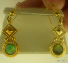Beautiful Brand New Fashion Earrings Simulated Yellow Gold Free Shipping
