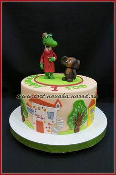 торт Чебурашка и крокодил Гена Конфета, Напитки, Десерты, Дети, Пироги