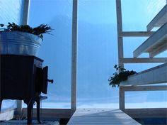 adjustable seating. floating sauna by Marco Casagrande