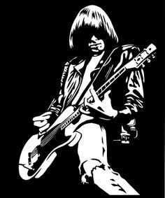 Johnny Ramone Music Pics, Music Artwork, Pop Rock, Rock And Roll, Tommy Ramone, Airbrush, Sims 4 Teen, Scratchboard Art, Ramones