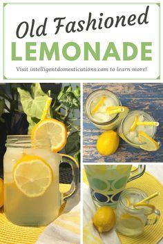 Old Fashioned Homemade Lemonade, Homemade Lemonade Recipes, Summer Drinks, Fun Drinks, Beverages, Cold Drinks, Drinks Alcohol Recipes, Non Alcoholic Drinks, Drink Recipes