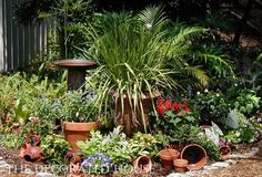 """The Decorated House: Create a """"Pot Garden"""" to stash all those lovely clay - terracotta pots that are waiting to be filled! Gardening"""