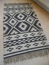 New INDIAN KILIM KELIM Jute & Wool Aztec Design HAND WOVEN Carpet Rug Runner