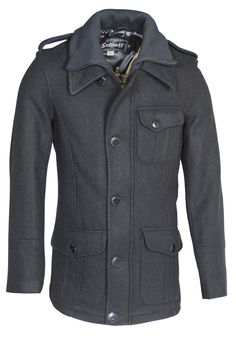Schott - Wool blend car coat