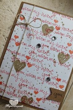 Magical Scrapworld: You warm my heart, Stampin' Up!. sheltering tree, hello life, work of art
