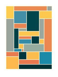 Homage to Doesburg ii (2010) - Geometric Art by Gary Andrew Clarke
