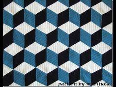 How to crochet 3D blanket afghan or rug free pattern tutorial seminario del modelo libre l - YouTube