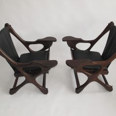 sling swinger chair made of cocobolo rosewood by Don Shoemaker