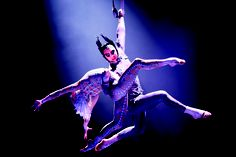 Cirque du Soleil's Igor Zaripov , Aerial Strap Artist in Michael Jackson THE IMMORTAL World Tour, who broke the Guinness World Record for the longest time suspended by his teeth on Good Morning America. Congrats!
