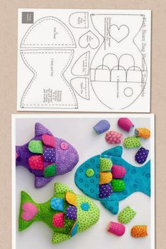 Amazing Home Sewing Crafts Ideas. Incredible Home Sewing Crafts Ideas. Sewing Toys, Baby Sewing, Sewing Crafts, Fish Crafts, Baby Crafts, Fabric Toys, Fabric Crafts, Doll Patterns, Sewing Patterns