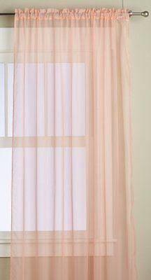 peach curtains nursery - Google Search