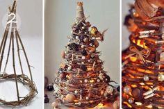 návod na Svítící vánoční stromeček z proutí
