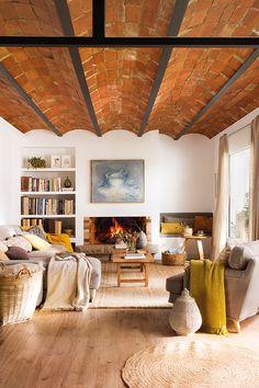 Accente rustice și tonuri naturale de culoare într-un apartament din Barcelona Jurnal de design interior
