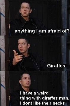 Everyone has that one ridiculous fear - Eminem