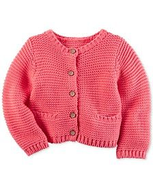 Carter/'s Infant Girls/' Metallic Ribbed Red Cardigan Sweater NWT