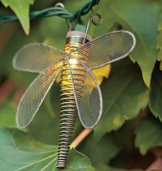 Wire Dragonfly String Lights - Crafted of twisted wire with mesh wings, our dragonfly lights bring a playful glow to outdoor gatherings and parties both large and small.