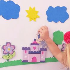 Create a magnet board for your kids with themes to help their imagination. Perfect for pretend play and storytelling.