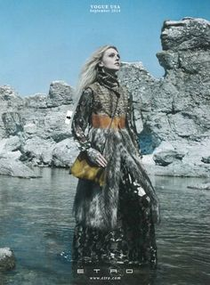 The #ETROwoman as featured in Vogue USA - September 2014 #ETROeditorial #fashion #style