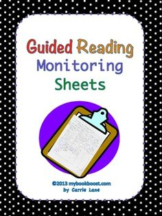 Keep track of student progress with these Guided Reading group Monitoring Sheets.