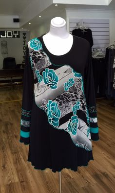 Emerald roses Miracle shape top designed and manufactured by Hayley Joy. Plus Size Womens Clothing, Plus Size Fashion, Clothes For Women, Joy Clothing, Real Women, Sweatshirts, Blouse, Emerald, Sweaters