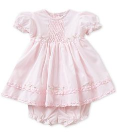 Friedknit Creations Baby Girls Months Ruffle Dress – Baby For look here Smocked Baby Dresses, Little Girl Dresses, Flower Girl Dresses, Ruffle Dress, Peasant Dresses, Dress Girl, Baby Kids Clothes, Doll Clothes, Baby Girl Newborn