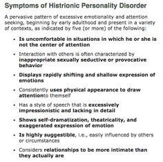 Attention seeker symptoms
