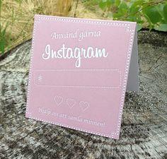 Linas Glädjeyra! Instagramskyltar - Minna rosa  #Instagramskylt #Bröllopsdekorationer #Bröllop