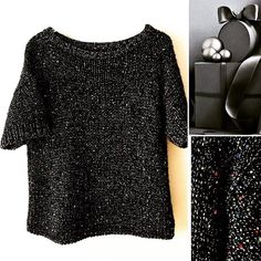 Hand knitted alpaca sweater with sequins