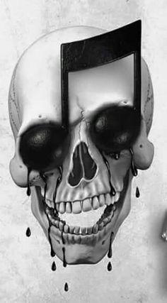 Music is life Artwork #skull #music