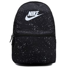 Pass on your favorite gear with the Nike Heritage Backpack from durable polyesterEasy carry handleAdjustable cushioned shoulder strapsLogo print detailing Large zippered main compartment fits a laptopFront zippered and side pockets for extra storage Nike School Backpacks, Cute Backpacks For School, Cute School Bags, Cute Mini Backpacks, Trendy Backpacks, Girl Backpacks, Leather Backpacks, Leather Bags, Awesome Backpacks