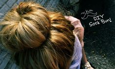 Sock bun -- great video showing you how to make a perfect bun... with the help of a sock!