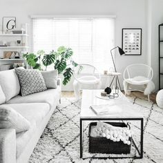 Find out why modern living room design is the way to go! A living room design to make any living room decor ideas be the brightest of them all. Living Room Decor Cozy, Living Room Grey, Living Room Sets, Living Room Modern, Living Room Interior, Home And Living, Living Room Designs, Black White And Grey Living Room, Living Room Carpet