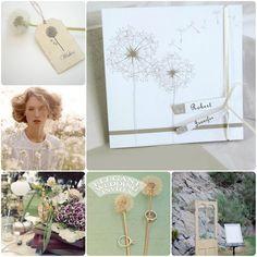 Get the dandelion wedding invitations at: http://www.elegantweddinginvites.com/product/romantic-dandelion-white-wedding-invitations-ewri006/