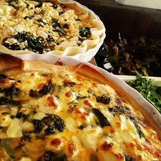 Spanakopita Spanakopita, Vegetable Pizza, Quiche, Vegetables, Breakfast, Instagram Posts, Food, Eat Lunch, Morning Coffee