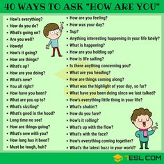 """The list below shows different ways to ask """"How Are You"""" in English that you can use in your daily English conversations. English Sentences, English Idioms, English Phrases, Learn English Words, English Lessons, French Lessons, Spanish Lessons, English Learning Spoken, Teaching English Grammar"""