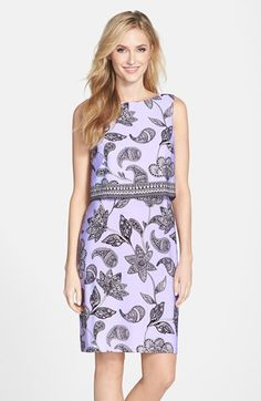 Donna Morgan Paisley Print Jersey Popover Dress available at #Nordstrom